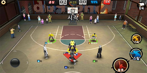 [IT게임리뷰잇수다③] 인기 농구 게임의 귀환 '프리스타일2: 플라잉덩크', 초보자 추천 포지션은?