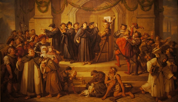 The attachment of Luther's 95 Theses, Julius Hübner, 1878. René / Flickr