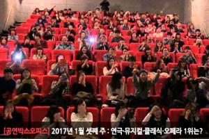 [2017년 1월 셋째 주 : 공연박스오피스] '6,331명' 불러모은 뮤지컬 '영웅' 종합 1위